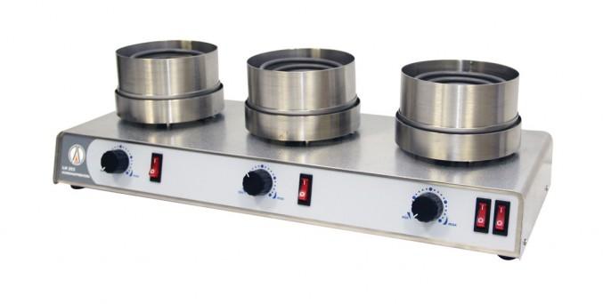 Колбонагреватель LOIP LH-253: трехместный, Т до +600 °С, объем колб 250 – 1000 мл