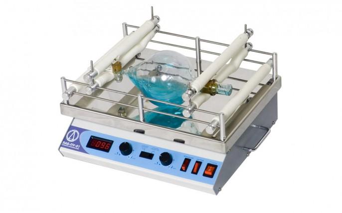 Шейкер LOIP LS-110: тип движения орбитальный, амплитуда 20 мм, максимальная нагрузка 10 кг, подогрев платформы до 100°С