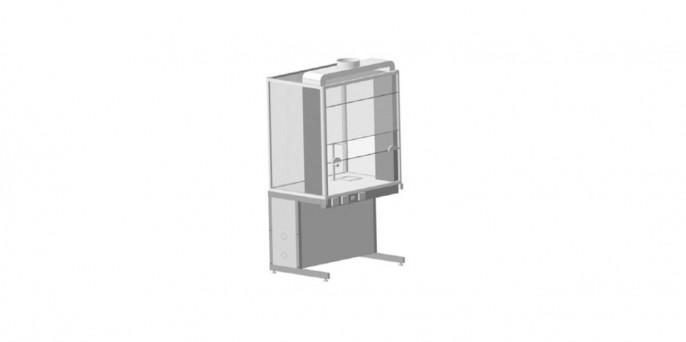 Шкаф демонстрационный напольный, с электрикой и подводом воды, евронога