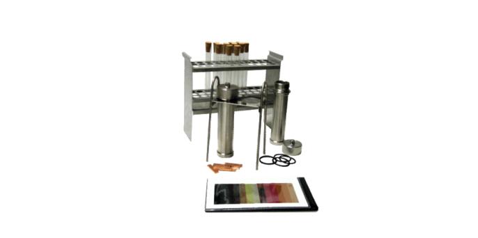 Комплект для испытаний коррозионной активности на медной пластинке