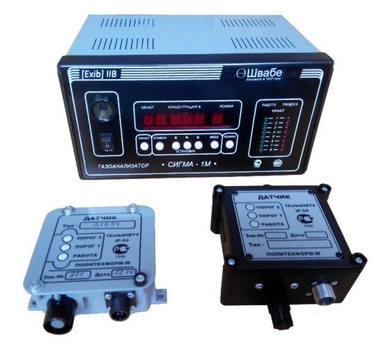 Многоканальный газоанализатор  взрывоопасных газов и паров СИГМА-1М