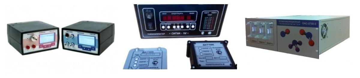 Фото анализаторов газа разных типов
