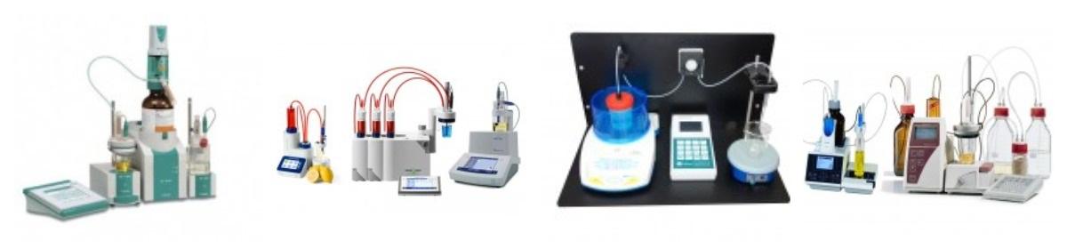 Фото титровального оборудования разных типов
