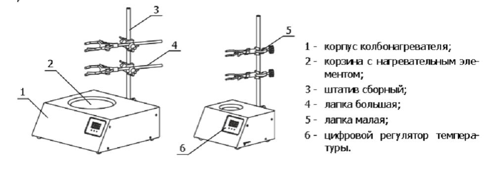 Схема устройства колбонагревателя